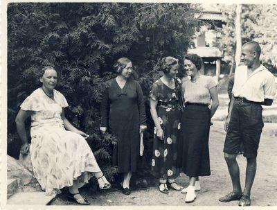 Veronika Šleivytė su bičiuliais Palangoje