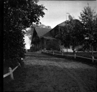 Senojo (antro) buvusios Markučių dvaro sodybos gyvenamojo namo fasadas