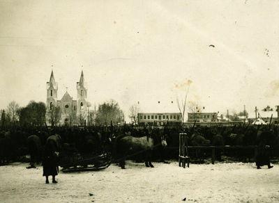 Švenčionių miesto turgus. Lenkų okupacijos metai