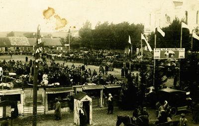 Švenčionių miesto turgaus aikštė. Lenkų okupacijos metai