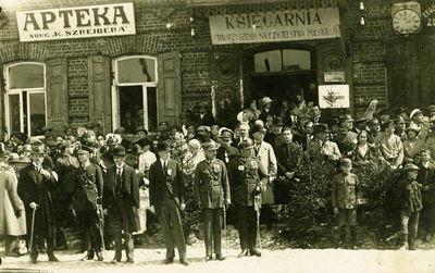 Švenčionių miesto centras šventės metu. Lenkų okupacijos metai