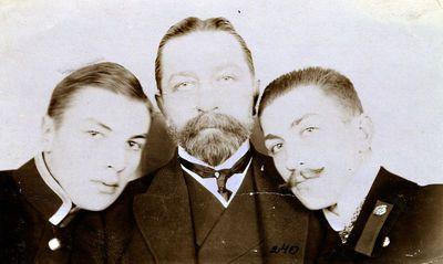 Aleksandras Tiškevičius su sūnumis Stanislovu ir Kazimieru