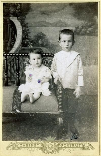 Vladimiro Baro ir sesers Viktorijos Elenos portretas