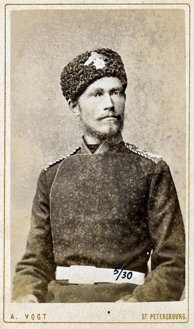 Rusijos imperatoriaus leibgvardijos kazokų pulko karininko portretas