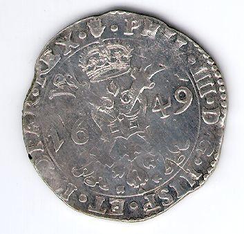 Patagonas. 1649 m. Ispanijos Nyderlandai. Brabanto provincija. Pilypas IV (1621-1665)