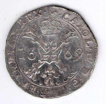 Patagonas. 1669 m. Ispanijos Nyderlandai. Brabanto provincija. Karlas II (1665 - 1700)