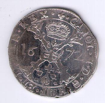 Patagonas. 1672 m. Ispanijos Nyderlandai. Flandrijos provincija. Karlas II (1665 - 1700)