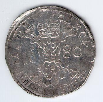 Patagonas. 1680 m. Ispanijos Nyderlandai. Brabanto provincija. Karlas II (1665 - 1700)