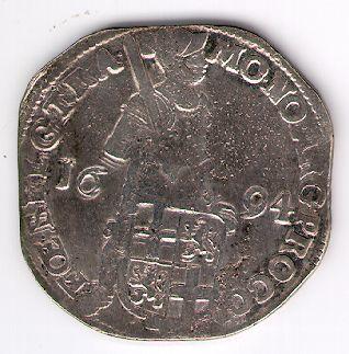 Taleris (Riksdalderis). 1694 m. Jungtinės Nyderlandų provincijos. Utrechto provincija