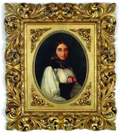 Marijos Radvilaitės-Tiškevičienės portretas.1857. Kopija