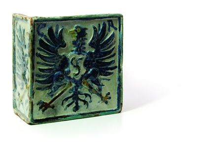 Herbinis koklis su Kristupo I Radvilos inicialais