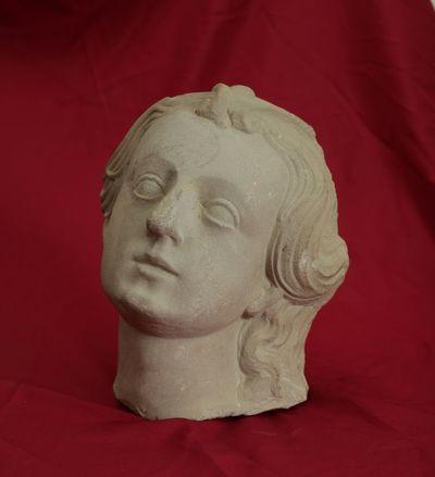 Skulptūros fragmentas. Moters galva
