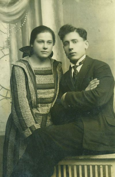 Juozas Merkys su žmona