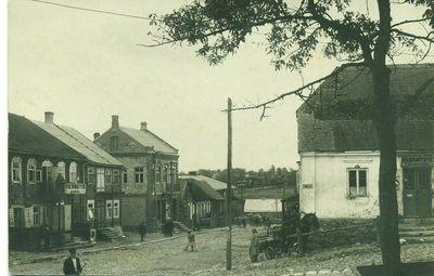 Gedimino gatvės fragmentas Kupiškyje