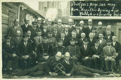 Kupiškio ugniagesių draugijos valdyba ir komanda