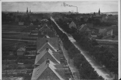 Klaipėda. Miesto vaizdas iš kareivinių bokšto
