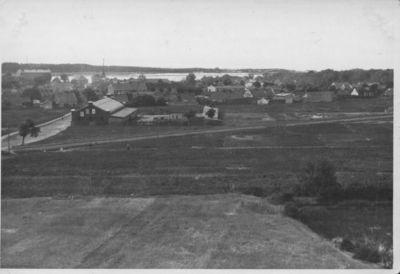 Klaipėda. Vaizdas į Smiltynę ir vakarinę miesto dalį iš kareivinių bokšto