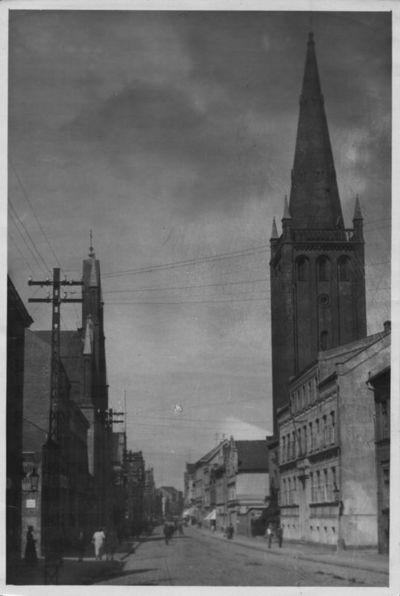 Klaipėda. Friedricho Vilhelmo (dabar Tiltų) gatvės perspektyva nuo Turgaus aikštės