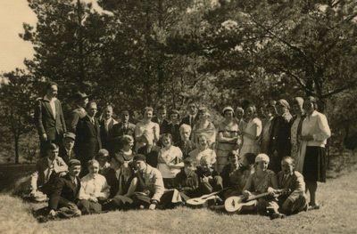 Lietuvių, ukrainiečių ir gudų studentų ekskursija Verkiuose