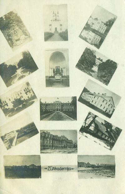 Atvirukas su Žemės ūkio akademijos vaizdais