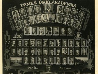 Žemės ūkio akademijos baigimo vinjetė, XII laida