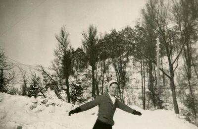 Gražutė Šlapelytė čiuožykloje.
