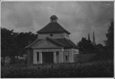 Klaipėda. Ritualinių apeigų pastatas Žydų kapinėse