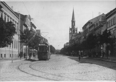 Klaipėda. Turgaus gatvės perspektyva iš vakarų pusės