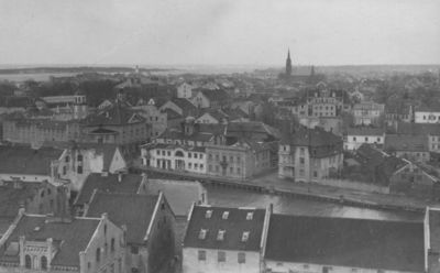 Klaipėdos miesto šiaurės vakarinė dalis iš Šv. Jono bažnyčios bokšto
