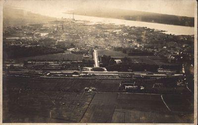 Klaipėda. Miesto panorama iš lėktuvo