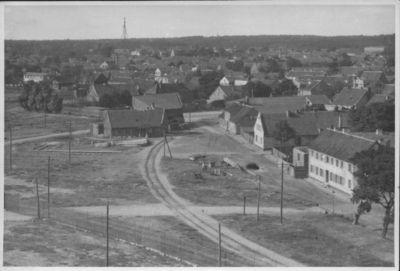 Klaipėdos šiaurės vakarinės dalies panorama iš kareivinių bokšto