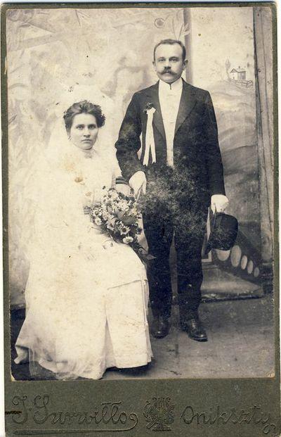 Kazimiero Antano Kazlausko ir 0nos Šumylaitės vestuvės