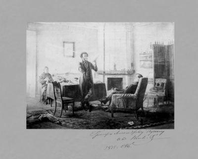 """1875 m. pagaminta paveikslo """"Aleksandras Puškinas Michailovskoje"""" nuotrauka"""