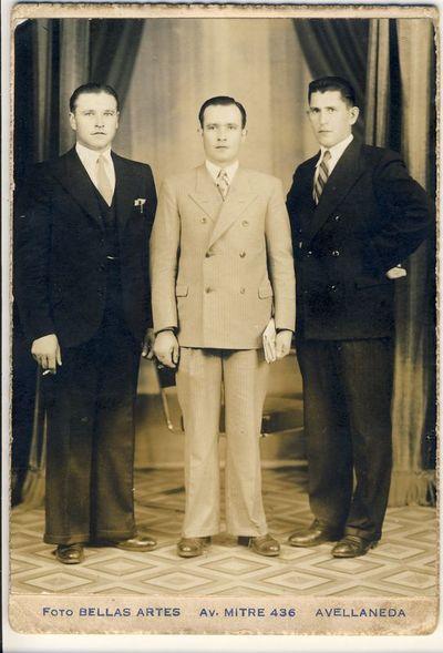Pranas Grigonis, Pranas ir Alfonsas Bražiūnai Avellanedoje