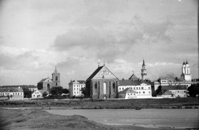 Kaunas. Senamiestis. Senamiesčio vaizdas žvelgiant nuo Neries ir Nemuno santakos