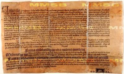 Litterae indulgentiarum pro tuitione fidei contra Turcos, 1488 (Odpustková listina ve prospěch boje proti Turkům)