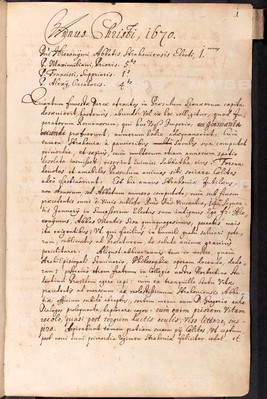 Annales Strahovienses, tomus II. (1670-1681)
