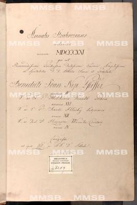 Annales Strahovienses 1821-1824