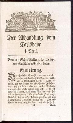 Abhandlung vom Carlsbade nebst einem Versuch einer Carlsbader Krankengeschichte