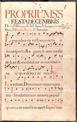 Graduale de proprio et communi Sanctorum pro choro Rayhradensi