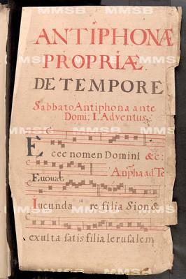 Antiphonale de communi et de sanctis. Sicut et iam de tempore antiphonae et invitatoria in eo suo ordine habentur. Descriptum in ... Monasterio Rayhradensi