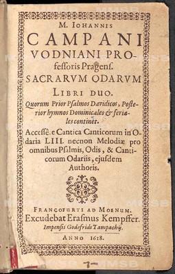 Iohannes Campanus Vodnianus (Jan Kampanus Vodňanský)