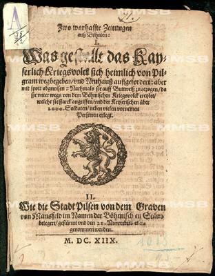 Zwo warhaffte Zeitungen auss Böhmen