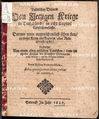 Copi eines Schreibens der Kays. Armee Generals Feldmarschalcken Herrn Grafen Heinrich Schlicken zu Alborg ...  datirt den 19. Octob. 1627