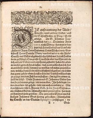 Reformation der königlichen Schlosskirchen zu Prag