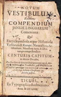 Novum vestibulum: Exhibens compendium Januae linguarum Comenianae