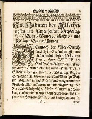 Articuln dess allgemeinen Landtag-Schlusses, so ... den 12. Monaths-Tag Novembris, anno 1711. proponiret und den 14. Junii, anno 1712 ... von allen vier Ständen dieses Königreichs Böheimb geschlossen, wie auch publiciret worden