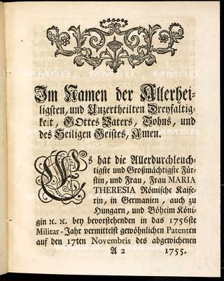 Artikulen des allgemeinen Land-Tag-Schlusses, so ... den 17. Monats-Tag Novembris des 1755. Jahrs ... proponiret, und sodann den 17. Maji 1756 von allen vier Ständen geschlossen worden