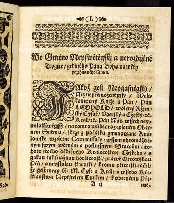 Tito artykulové na sněmu obecném, kterýž držán byl ... 9. dne měsíce listopadu léta pominulého 1664. a zavřín 18. dne měsíce července léta přítomného 1665 ... ode všech čtyr stavův království českého svoleni jsau