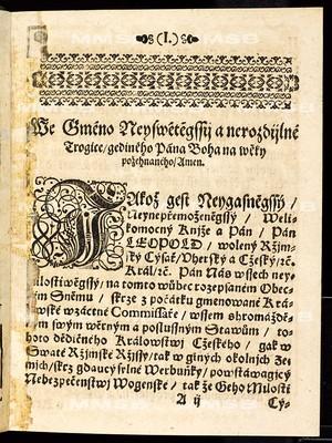 Tito artykulové na sněmu obecném, kterýž držán byl ... 23. dne měsíce března léta přítomného 1666. a zavřín 14. dne měsíce července podobně léta tohoto běžícího 1666 ... ode všech čtyr stavův království českého svoleni jsau